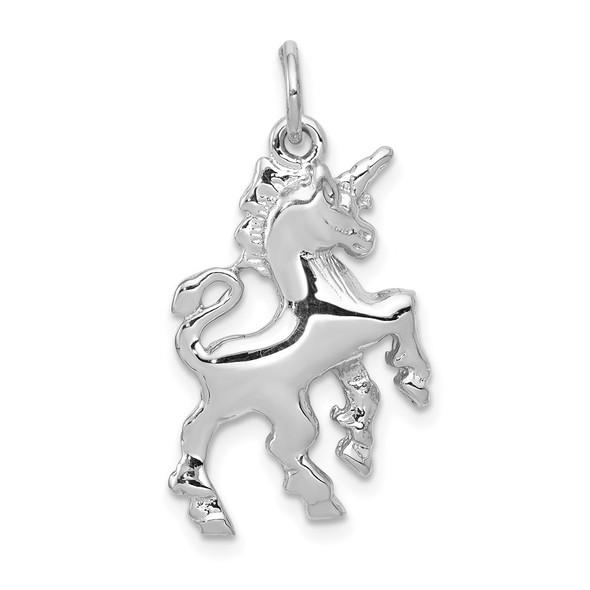 14K White Gold Unicorn Charm
