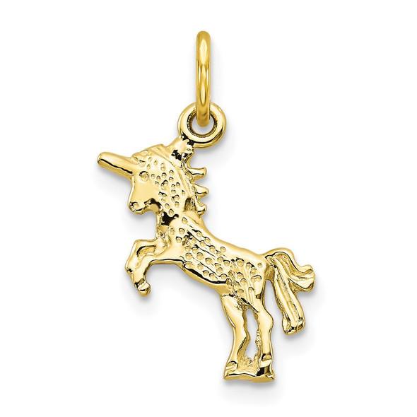 10k Yellow Gold Unicorn Charm 10C670