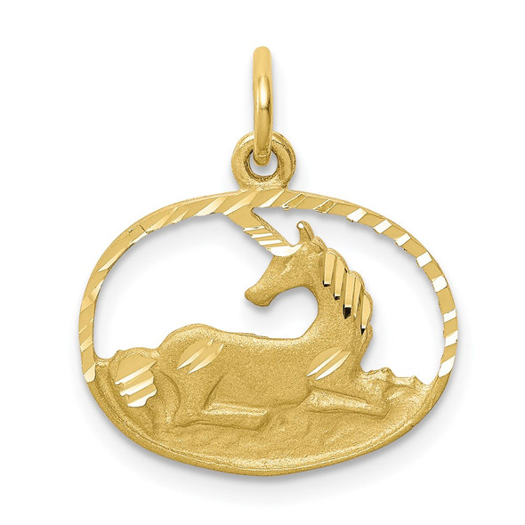 10k Yellow Gold Unicorn Charm 10C662