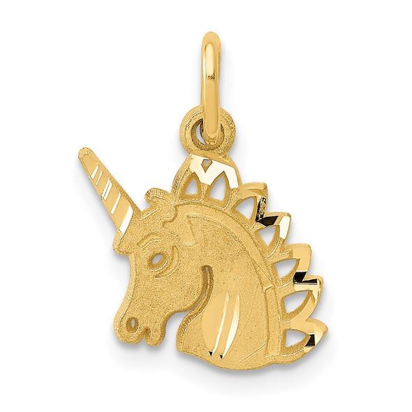 14k Yellow Gold Unicorn Charm C1142