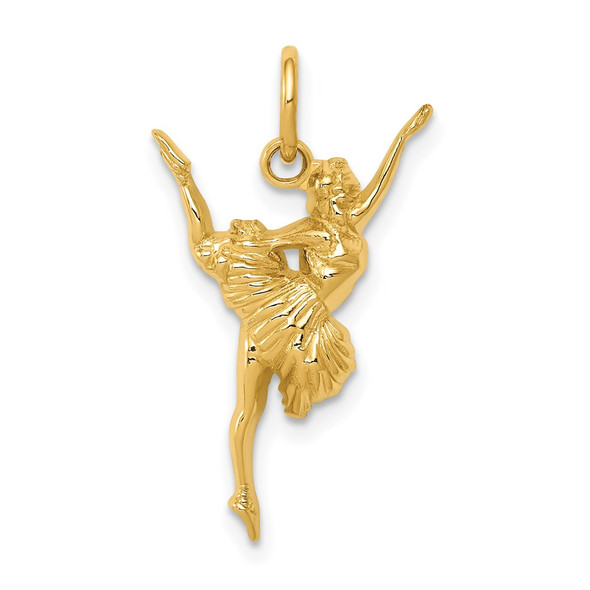 14k Yellow Gold Ballerina Charm D3468