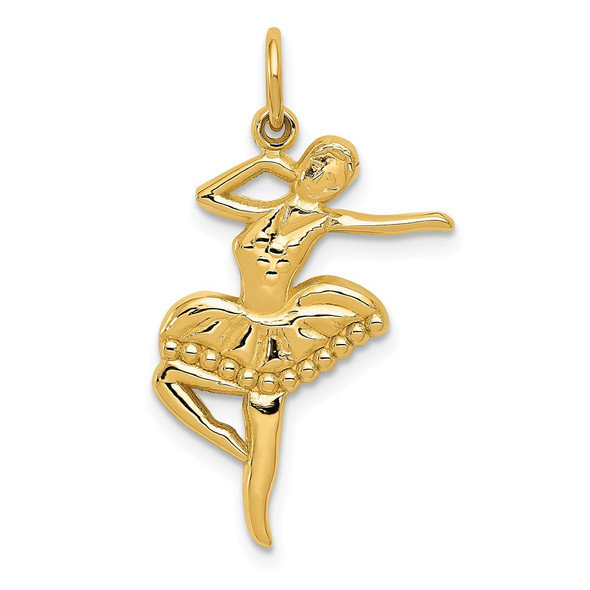 14k Yellow Gold Ballet Dancer Charm