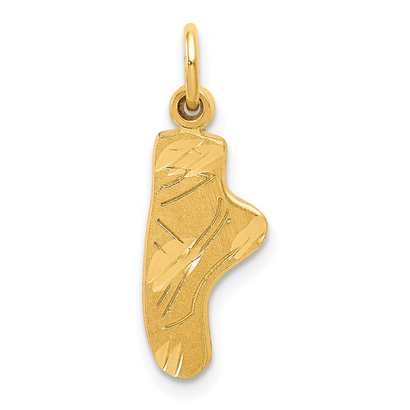 14k Yellow Gold Ballet Slipper Charm