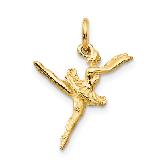 14k Yellow Gold 3D Ballerina Charm A9048
