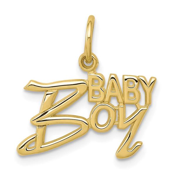 10k Yellow Gold Baby Boy Charm