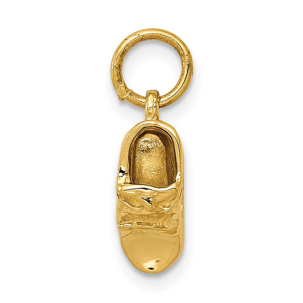 14k Yellow Gold 3D Single Baby Shoe Charm