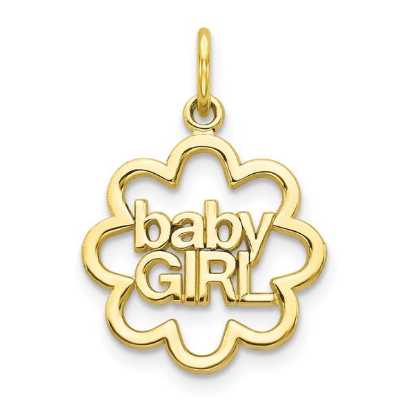 10k Yellow Gold Baby Girl Charm 10C136