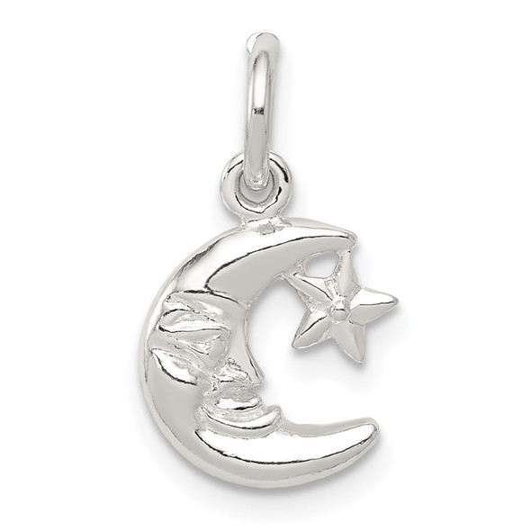 Sterling Silver Moon and Star Charm QC1086