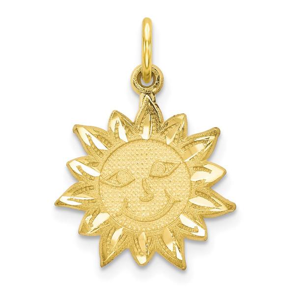 10k Yellow Gold Sun Charm