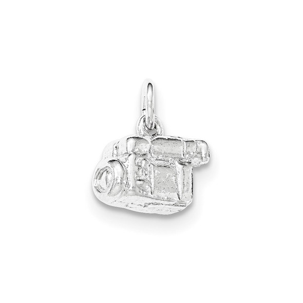 Sterling Silver Polished 3-D Video Camera Charm