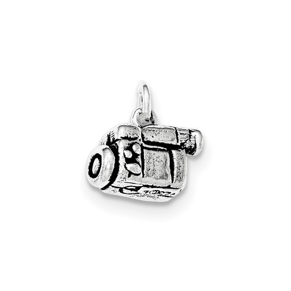 Sterling Silver Antiqued 3-D Video Camera Charm