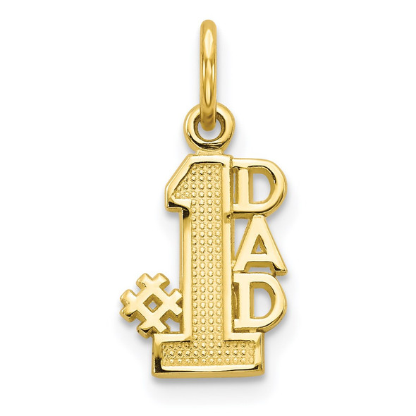 10k Yellow Gold #1 Dad Charm 10C103