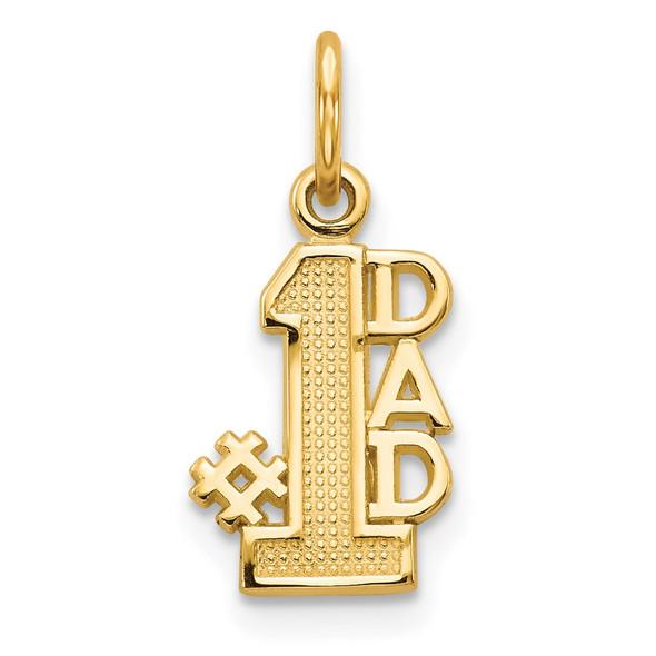 14k Yellow Gold #1 Dad Charm C391