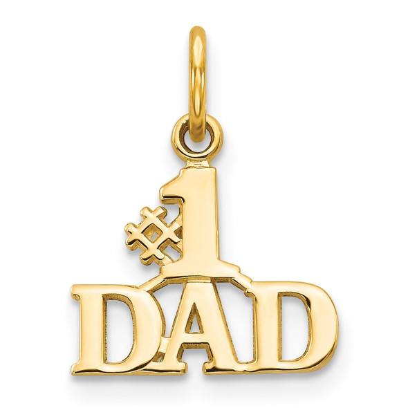14k Yellow Gold #1 Dad Charm C392