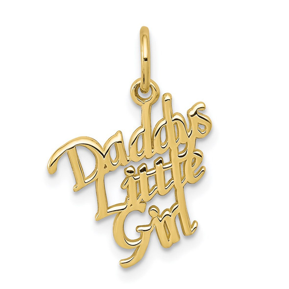10k Yellow Gold Daddys Little Girl Charm