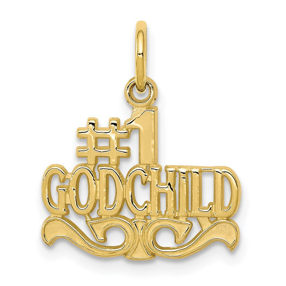 10k Yellow Gold #1 Godchild Charm