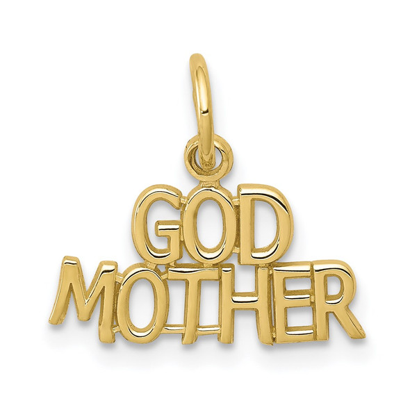 10k Yellow Gold Godmother Charm