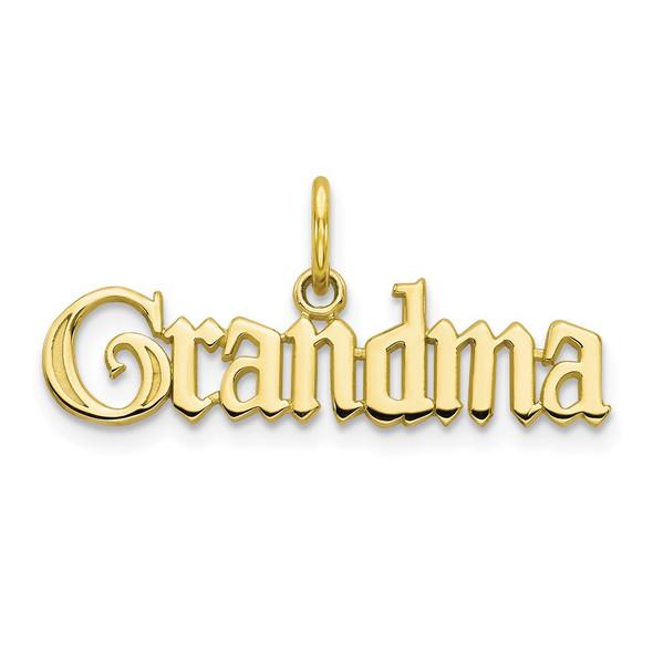 10k Yellow Gold Grandma Charm
