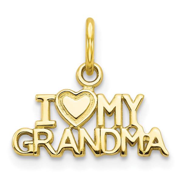 10k Yellow Gold I Love My Grandma Charm