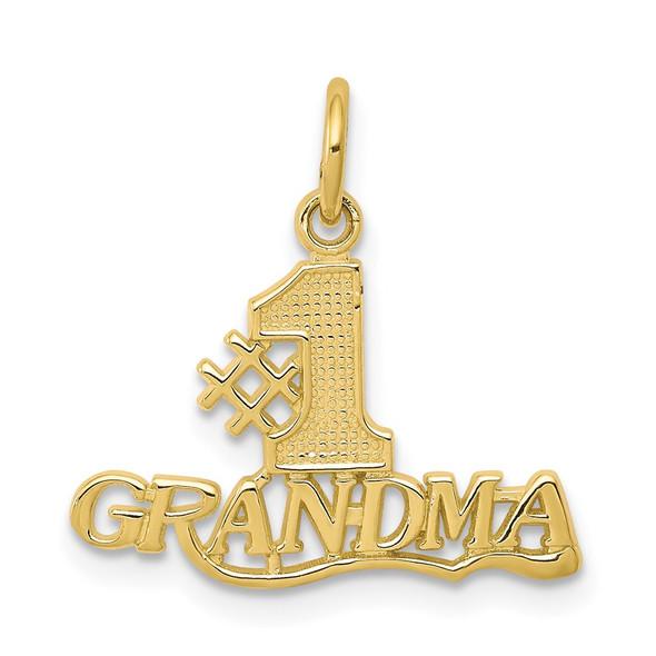 10k Yellow Gold #1 Grandma Charm