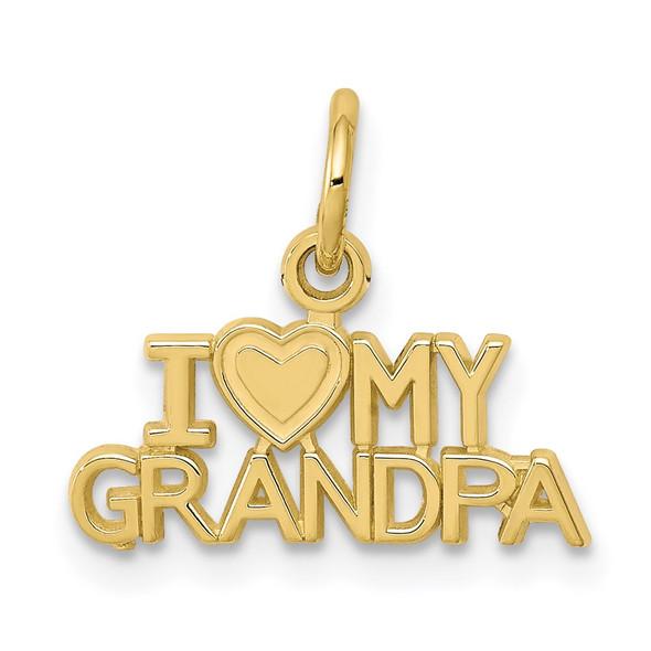 10k Yellow Gold I Love My Grandpa Charm