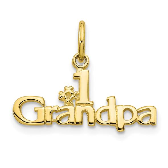 10k Yellow Gold #1 Grandpa Charm