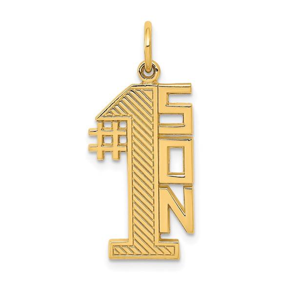 14k Yellow Gold #1 Son Charm