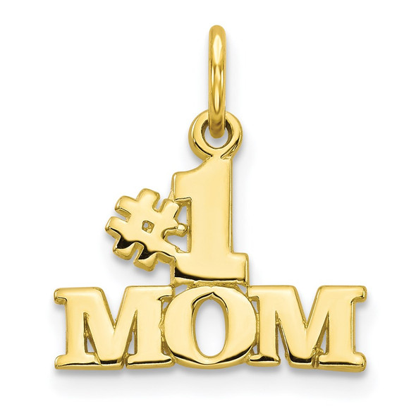 10k Yellow Gold #1 MOM Charm 10C94