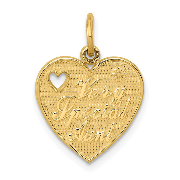 14k Yellow Gold Very Special Aunt Charm