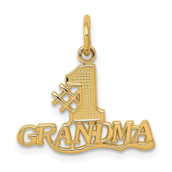 14k Yellow Gold #1 Grandma Charm