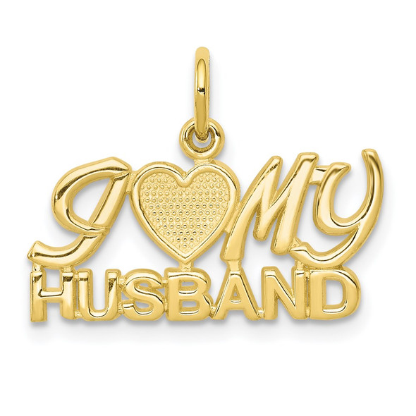 10k Yellow Gold I Love My Husband Charm