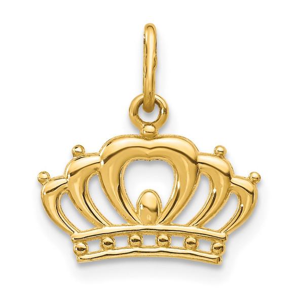 14k Yellow Gold Crown Charm YC1036