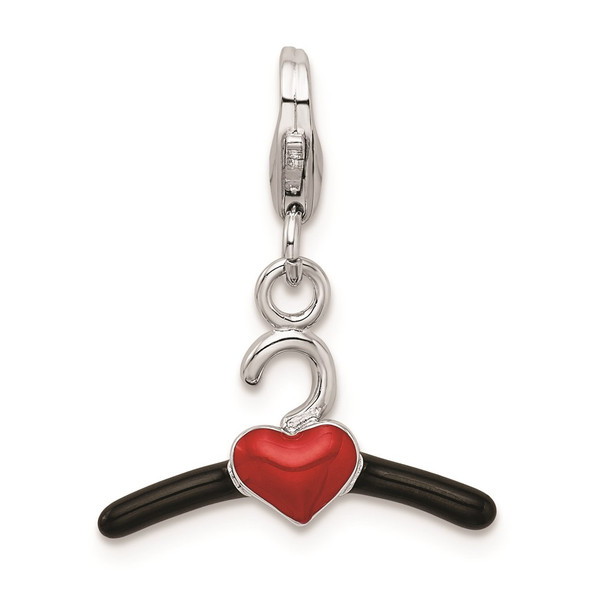 Sterling Silver 3-D Enameled Clothing Hanging w/Lobster Clasp Charm