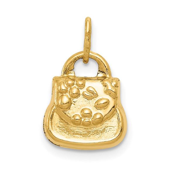 14k Yellow Gold 3-D Purse Charm