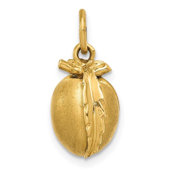 14k Yellow Gold Peach Charm