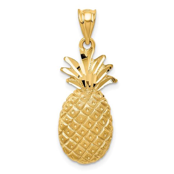 14k Yellow Gold Pineapple Charm