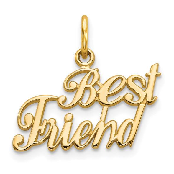 14k Yellow Gold Best Friend Charm