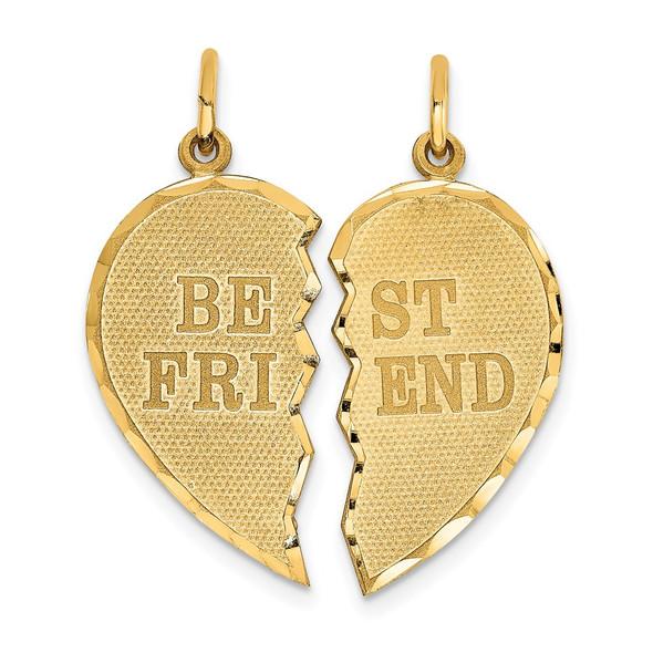 14k Yellow Gold BEST FRIEND 2-piece Charm