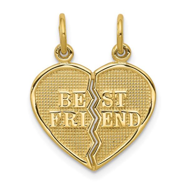 10K Yellow Gold BEST FRIEND 2 Piece Break-A-Part Charm 10C212