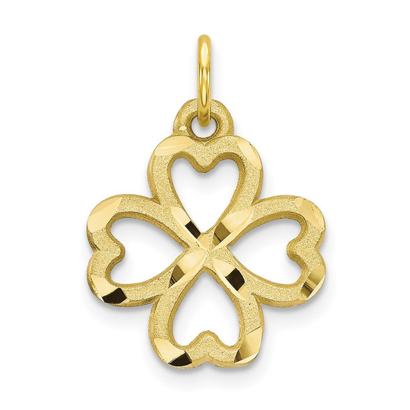 10k Yellow Gold 4-Leaf Clover Charm 10C719