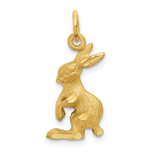 14k Yellow Gold Jack Rabbit Charm