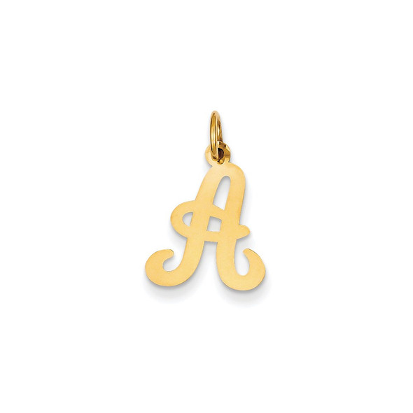14k Yellow Gold Initial A Charm YC248A