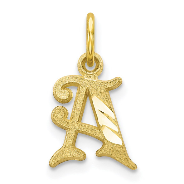 10k Yellow Gold Initial A Charm 10C764A