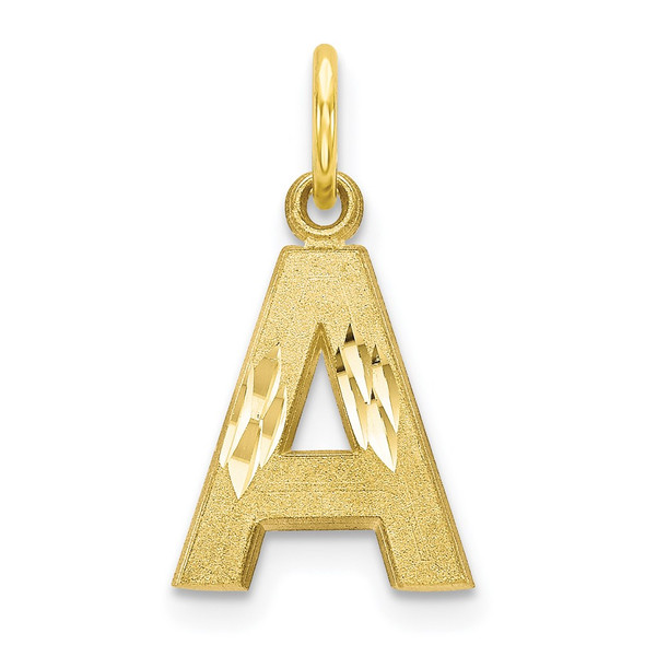 10k Yellow Gold Initial A Charm 10C768A