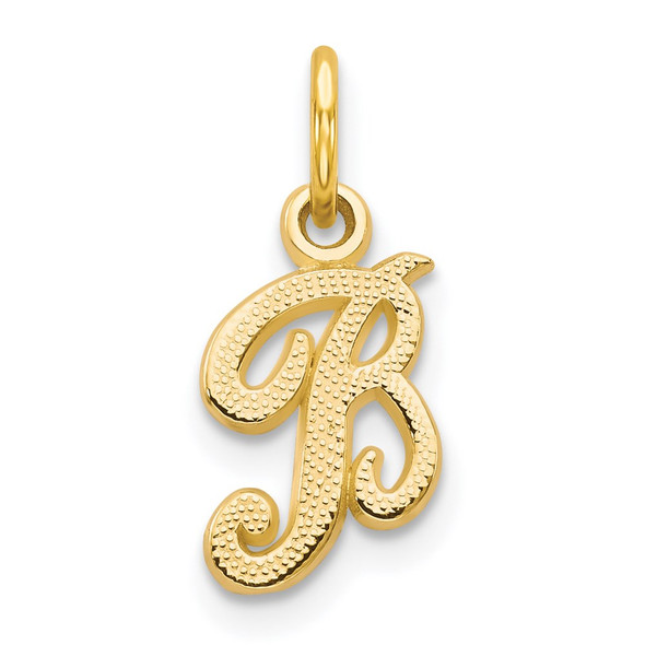 14k Yellow Gold Casted Initial B Charm