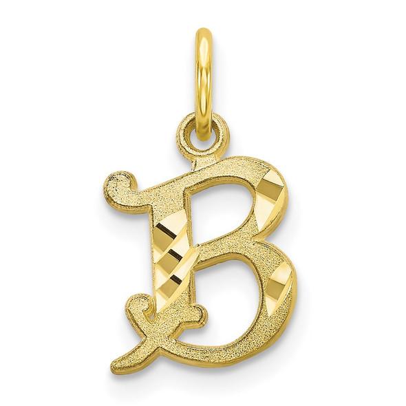 10k Yellow Gold Initial B Charm 10C764B