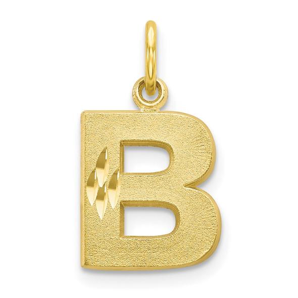 10k Yellow Gold Initial B Charm 10C768B