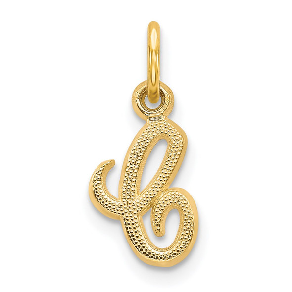 14k Yellow Gold Casted Initial C Charm