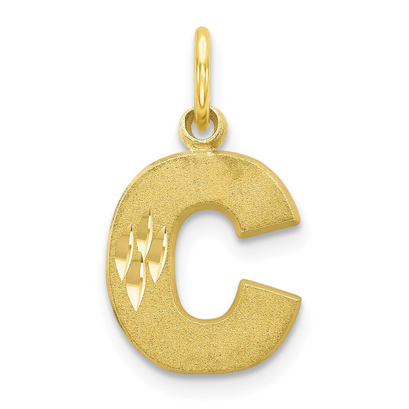 10k Yellow Gold Initial C Charm 10C768C