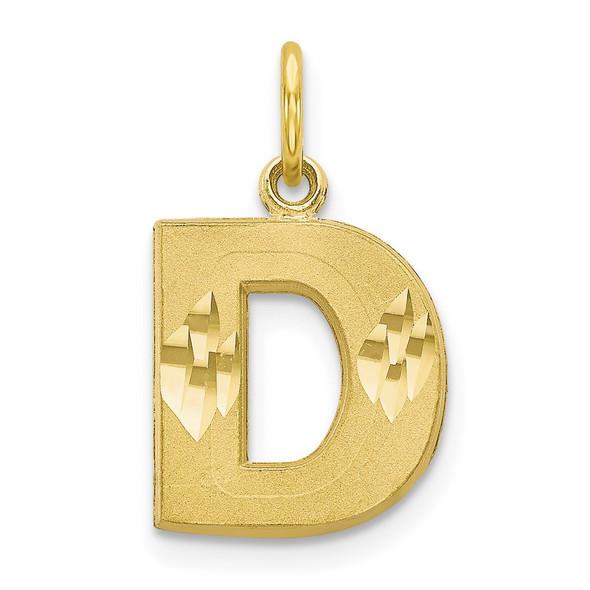 10k Yellow Gold Initial D Charm 10C768D